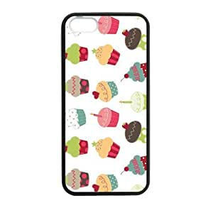 Cake Cupcakes Case for iPhone 5 5s protective Durable black case