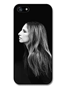 Barbra Streisand Black and White Profile Portrait case for iPhone 5 5S