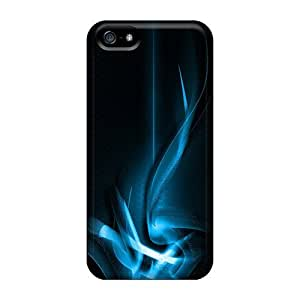 Cute Appearance Cover/tpu Blue Curves Case For Iphone 5/5s by runtopwell