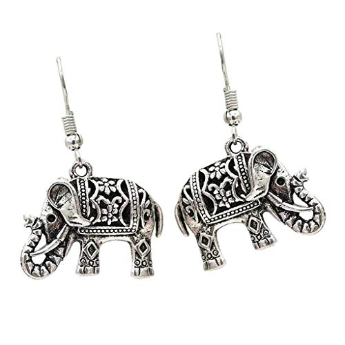 (Lucky Thai Elephant Animal Design Dangle Hook Earrings Charms Pair Earring Necklace Jewelry Crafting Key Chain Bracelet Pendants Accessories Best)