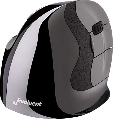 Evoluent VMDMW VerticalMouse D Medium Right Hand Ergonomic Mouse with Wireless Connection. The Original VerticalMouse…