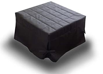 Ponti Divani Puff cama plegable, cama otomana, colchón incluido! Tapicería de piel sintética .Producto MADE IN ITALY!!!: Amazon.es: Hogar