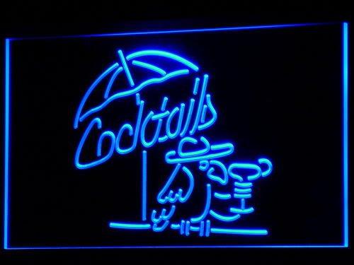 Cartel Luminoso ADV PRO i337-b Cocktails Parrot Bar Pub Club ...