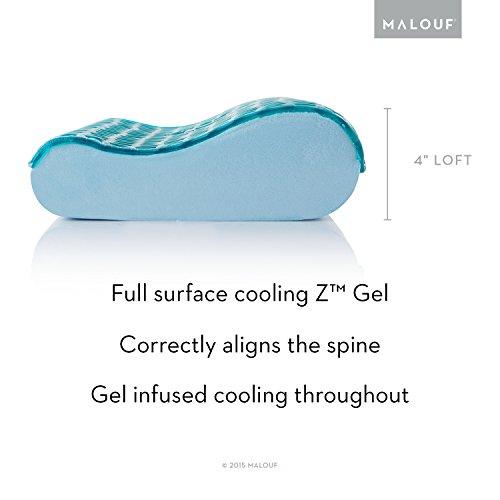 Z Gel Infused Dough Memory Foam Contour Pillow With Z Gel