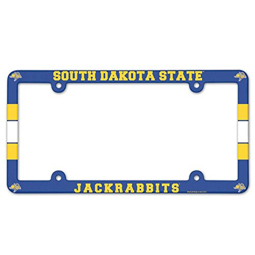 South Dakota State Jackrabbits Plastic License Plate Frame (License Plate South State Dakota)