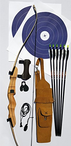 Traditional Takedown Recurve Bow Package RH 45