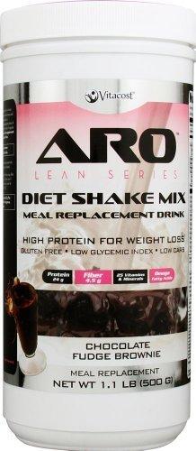 ARO-Vitacost Lean Series Diet Shake Mix Chocolate Fudge Brownie -- 1.1 lbs (500 g) by ARO-Vitacost by ARO-Vitacost