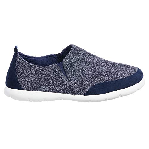ISOTONER Zenz Men's Sport Knit Slip-On Walking Shoe Navy Blue, 11US, Navy Blue