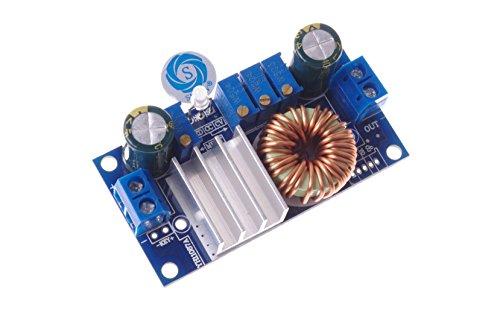 SMAKN® DC-DC Voltage Regulator Buck Converter 6-36V to 1.25-32V 5A Constant Current Voltage Step Down Module MPPT Solar Controller for Charging Battery Car Power Supply