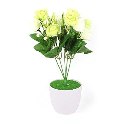 eDealMax crisol plástico de la sala Artesanía Tabla decorativo Flor Artificial Multicolor