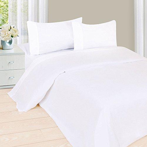 Lavish Home 1200 3-Piece Sheet Set, Twin, White