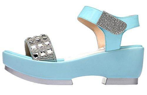 Guciheaven Women New Style Beautiful Cute Platform Peep-toe Casual Sandals Shoes(5.5 B(M)US, Cyan)