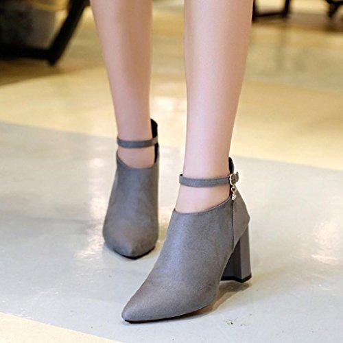 OverDose High Femme Pointure Sexy Haut Talon Bottines Heels Daim Large Chaussures Talons Bottes 6qwaxY5