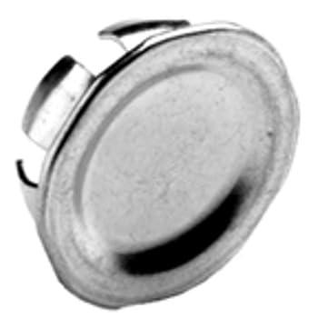 "BRIDGEPORT 1692 3/4"" Knockout Plug, Steel, Qty-10"