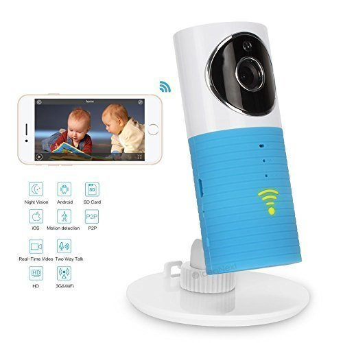 IdeaNext Smart Baby Monitor Wifi Video Baby Camera with P2p Night Vision Record Video Two-way Audio Motion Detected Support Tf Card for Iphone Ipad Android Smartphone and Tablets (Can Not Work with PC) [並行輸入品] B01NBK9NH6