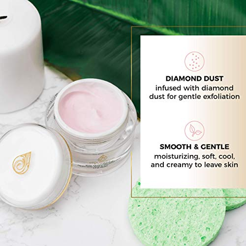 410 z%2BrrwzL - Anti Aging Face Cream Moisturizer - with Rose Scent, Hyaluronic Acid and Diamond Dust, Anti-Aging Anti-Wrinkle Night Cream for Woman and Men, Skin Care