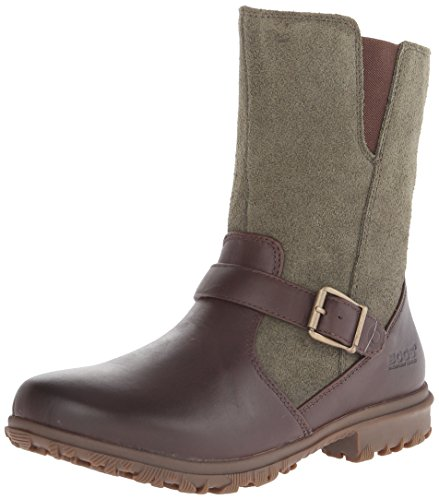Bogs Women's Bobby Mid Waterproof Leather Motorcycle Boot...