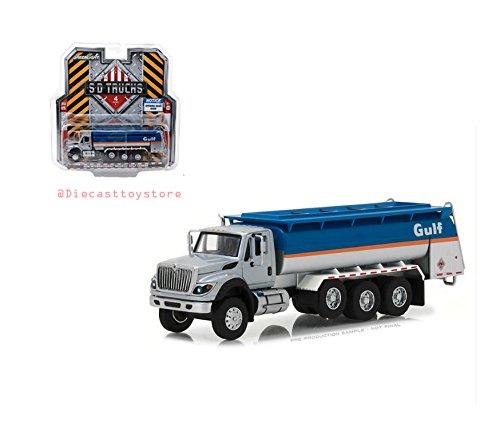 Greenlight NEW DIECAST TOYS CAR 1:64 SD TRUCKS SERIES 4-2018 INTERNATIONAL WORKSTAR TANKER TRUCK - GULF OIL - Tanker Metal Oil