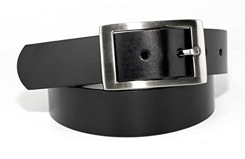 23501 - Men's Casual Dressy Center Bar Bold Rectangular Buckle Belt (36(fits 31