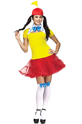 Fun World Costumes Women's Tweedle Dee Dum Adult Costume, Yellow/Red, Small/Medium -