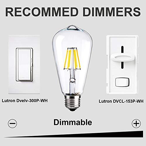 Amazon.com: LUXON - Bombillas Edison de 6 W, estilo antiguo ...