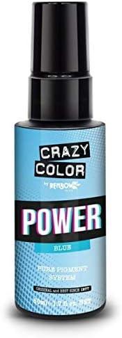 CRAZY COLOR - TINTE Crazy Color Pure Pigment Power Blue 50ML, Negro, Estandar