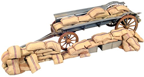 Polystone Diorama - W. Britain Toy Soldier Anglo Zulu War 20082 British Ox Wagon Barricade with Mealie Bagst 1:30 Scale Polystone Diorama
