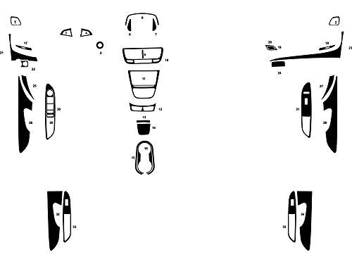 Rdash Dash Kit Decal Trim for Buick Encore 2013-2017 - Aluminum (Brushed Gunmetal) -