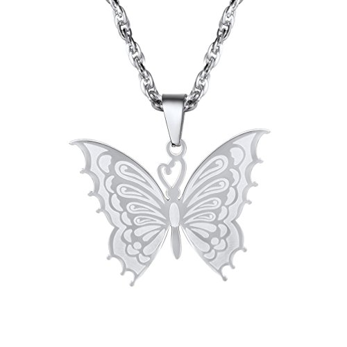 PROSTEEL Butterfly Jewelry Womens Necklaces Pendants Animal Jewelery Bridesmaid Gifts Mom Gift Stainless Steel 2018, PSP2950G
