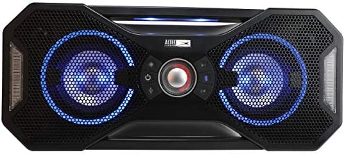 Altec Lansing Mix 2.0 - Bluetooth Speaker, Wireless, Waterproof, Floatable, Portable, Speakers, Loud Volume, Strong Bass, Rich Stereo System, 100 toes Wireless Range, IP67, Black with Lights