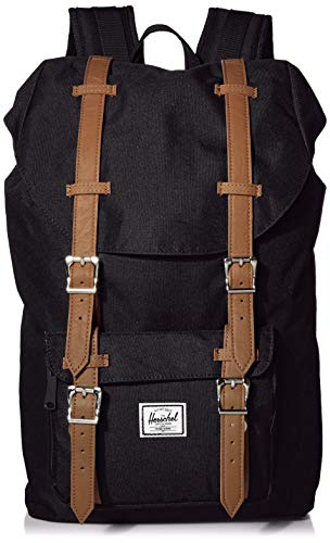 Herschel Little America Laptop Backpack, Black/Tan