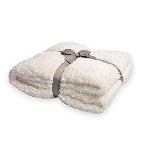 Battilo Oversized Cozy Soft Plush Sherpa Throw Blanket, 98