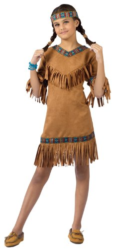 American Indian Girl Child Large Size 12-14 -
