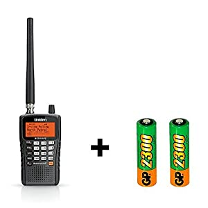 Uniden BCD325P2 Phase II Digital Handheld Scanner and Rechargeable Batteries Bundle