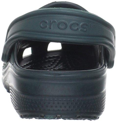 Crocs Classic Unisex Adults T-Bar Pumps, Green (Evergreen), 10 UK Men/11 UK Women