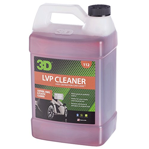 3D Leather, Vinyl & Plastic Cleaner - 1 Gallon | Concentrated & Organic Stain Remover | Remove Grease, Oil, Ink & Dirt | Made in USA | All Natural | No Harmful Chemicals