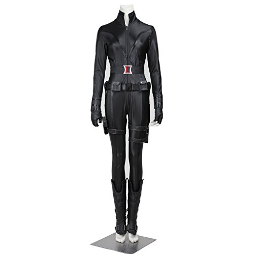 CosplayDiy Women's Costume for The Avengers II Black Widow Cosplay S (Black Widow From Avengers Costume)