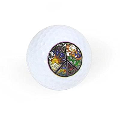 Golf Balls, Nitro Novelty Peace Sign 2, 3 Pack