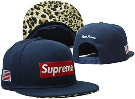 2a2d362c98f Amazon.com   Supreme 5 Panel Team Classic Stretch Fit Cap Camp Blue Snapback  Cap Hat   Sports   Outdoors