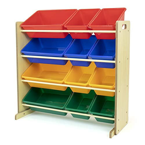 Humble Crew Natural Primary Kids Toy Storage Organizer With 12 Plastic Bins On Galleon Philippines
