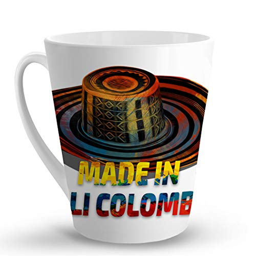 Makoroni - MADE IN CALI COLOMBIA Colombian Colombia - 12 Oz. Unique LATTE MUG, Coffee Cup (Best Coffee In Cali Colombia)