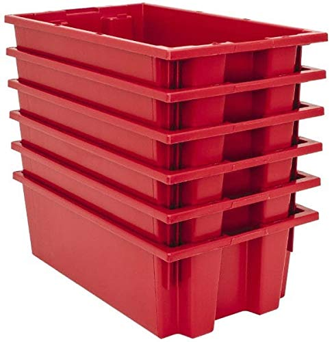 (Quantum Storage - 75 Lb. Load Capacity Red Polyethylene Tote Container 18