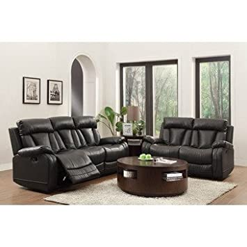 Amazon.com: Homelegance Ackerman 2 Piece Double Reclining Living ...
