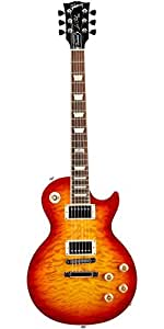 Gibson USA Les Paul Peace LPP14HPCH1 Solid-Body Electric Guitar, Heritage Cherry Sunburst