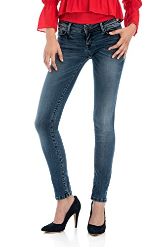 Slim Salsa Denim dlav Shape Up en Bleu Jean qqgnZ1SwT