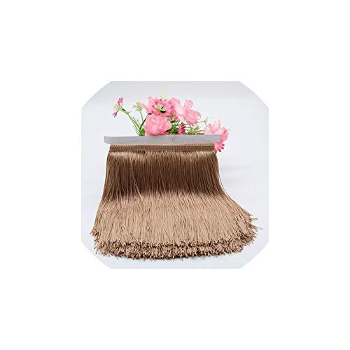 (1 Meter 20Cm Long Fringe Lace Tassel Polyester Lace Trim Ribbon Latin Dance Skirt Curtain Fringes for Sewing,20Cm,Meter9)