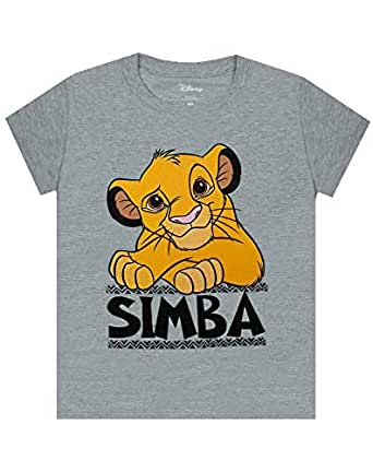 Lion King Disney Simba Boy's Grey Short Sleeve Casual T-Shirt (3-4 Years)
