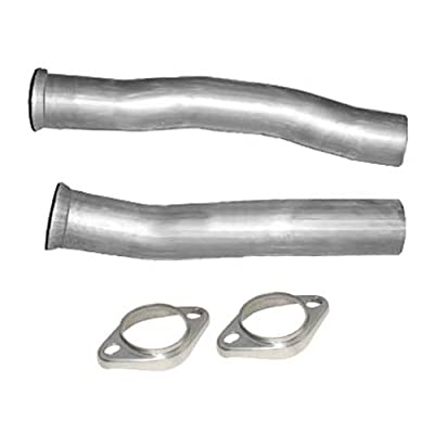 "Pypes Exhaust PFF10K 2-1/2"" Diameter Stainless Steel Intermediate Pipes Flow Tube for Ford Mustang-Pair"