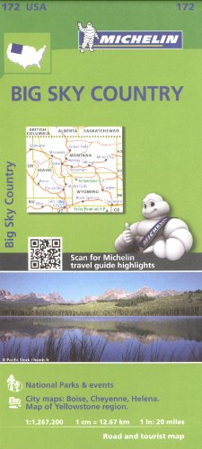 Michelin Usa Big Sky Country Map 172  Michelin Zoom Usa Maps