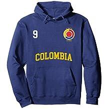 Colombia Soccer Hoodie No. 9 Colombian Flag Camiseta Futbol